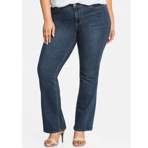 Mid-Rise Skinny Bootcut Jeans (Tall)